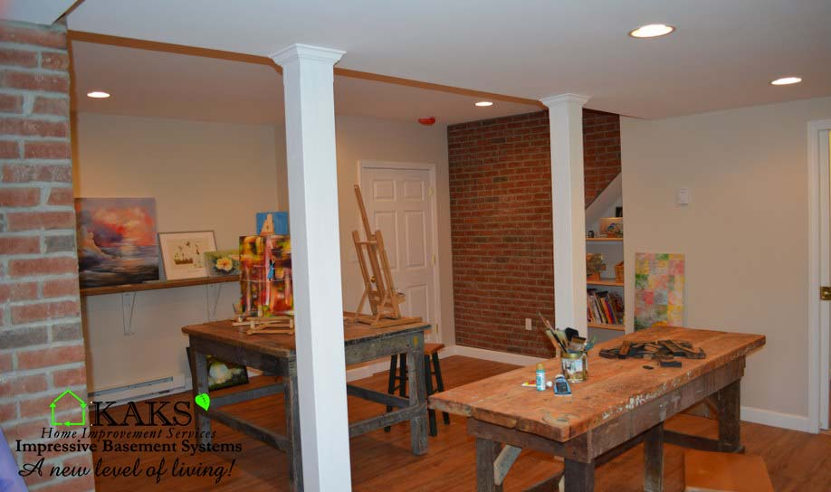 Basement Finish Mendon Ma. Art Studio & Lounge